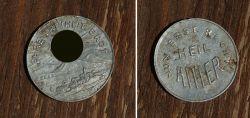 Aluminium Propaganda Medaille/Münze