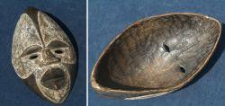Afrikanische Maske Tikar / Kamerun 2. Hälfte 20. Jhd