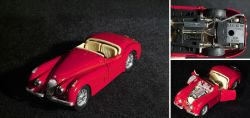 Red Jaguar convertible XK 120