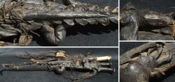 Prunk-Waffengehänge mit präparierten Krokodil (Nordafrika) 1. Hälfte 19. Jhd.