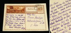 Alte Gelaufene Postkarte