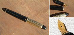 MARKSMAN Füller, schwarzer Kunststoff/goldplattiert