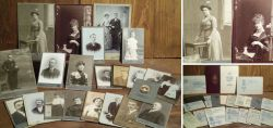 Historische Porträtfotos auf Karton um 1900