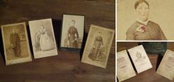 Alte Porträtfotos auf Karton um 1900