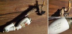Biedermeier Tabakpfeife aus Porzellan