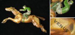Rennpferd mit Jockey