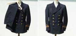 Old captain uniform of the Swedish navy