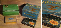Old cigarette boxes / first half of the 20th century
