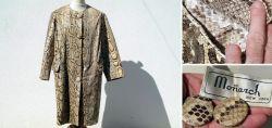 Alter Vintage-Mantel aus Schlangenleder