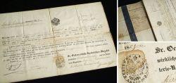 Altes Militär-Dokument