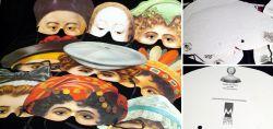 Vintage Masken im Viktorianischen Stil 1980er Jahre