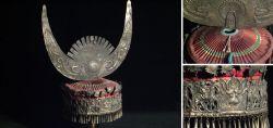 Alte Kopfbedeckung der Miao Südchina um 1920