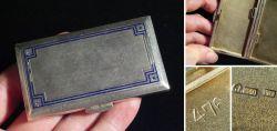 Zigarettendose Emaille innen vergoldet Widehopf-Punze 1922