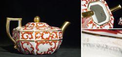 Teekanne mit Goldmalerei im Prunkstil 19. Jahrhundert
