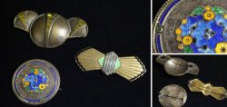 Convolute old brooches Art deco