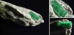 Wunderschöne Smaragdstufe Habachtal