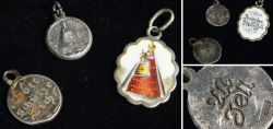 Three old Christian silver pendants 1880 - 1900