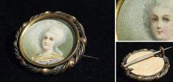 Jugendstil Brosche Marie-Antoinette