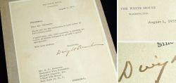 Signiertes Blatt von Dwight D. Eisenhower 1955