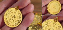 Ungarische Medaille für freiwillige Feuerwehr 1958
