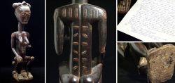 Great female oracle figurine Baule Blolo Bla 19th century