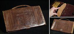 Alte ägyptische Handtasche aus Leder