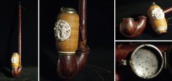 Rare pipe with braided pipe bowl