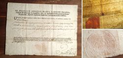 Authentication documents issued in Italy from Rome 1768