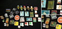 Lot of pins to the Olympic Games 1980 Moscow