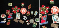 Lot of sport pins from different countries 1959 – 2000