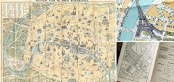 Old Paris map 1950