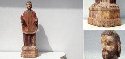 Große Heiligenfigur 18. – Anfang 19. JHD Indoportugiesisch