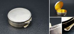Little and high quality round silver-box