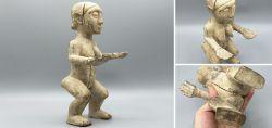 Female altar-figure from the Mami Wata cult of Ewe / Dangme / Aklama from Ghana Kaolin around 1970