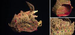 Original balinesische Haubenkrone Bali 2. Hälfte 20. Jahrhundert