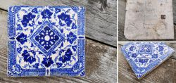 Multan tile with typical blue ornaments Pakistan/Afghanistan 17th-18th centurie