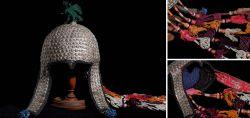Brauthaube – Kopfschmuck aus Turkmenistan/Zentralasien Anfang 20.Jahrhundert