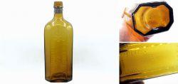 Rare amber glass bottle