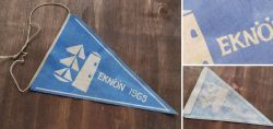 Rare boy scout fabric pennants from Sweden 1965