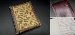 Altes kleines Notizbuch eines Arztes