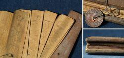Altes Palmblatt Manuskript