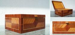Holzschatulle mit Geometrischen Intarsien